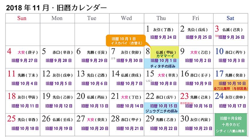 【沖縄の旧暦行事】旧暦十月は「飽きちゃう月」?