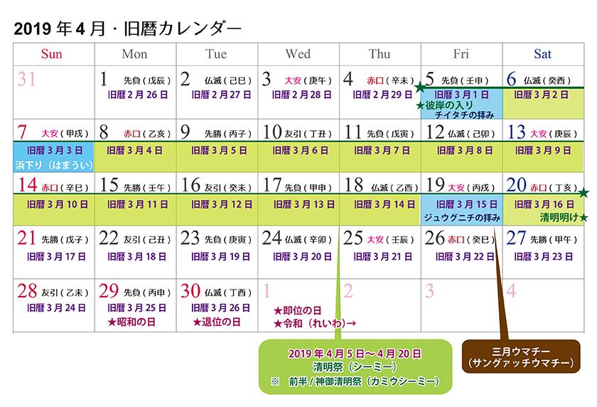 【沖縄旧暦カレンダー】旧暦三月☆浜下り、清明祭到来!