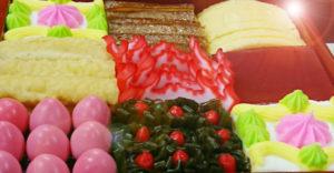 浜下り(はまうい)のお弁当☆「三月お重」と「三月菓子」